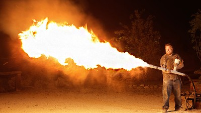 Hostile Hare flame thrower Alternative fuels Survivalists and Urban Farmers