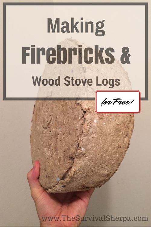 DIY Free Firebricks & Wood Stove Logs