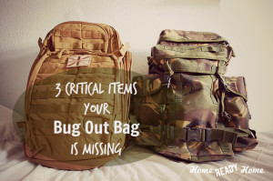 Your Bug Out Bag is Missing These!