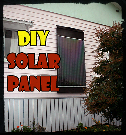 DIY Coke Can Solar Heating Panel