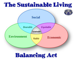 The Sustainable Living Balancing Act