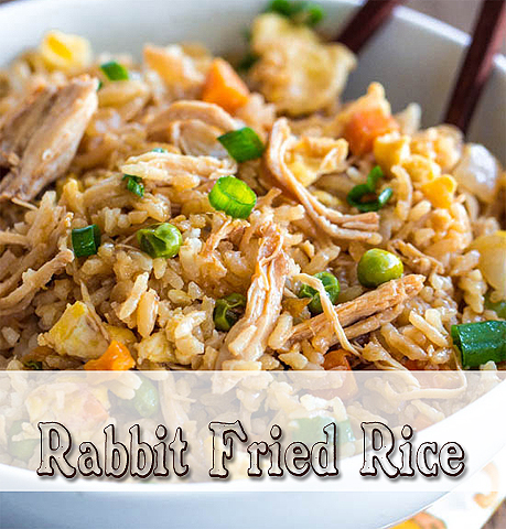 Rabbit Fried Rice via HostileHare.com