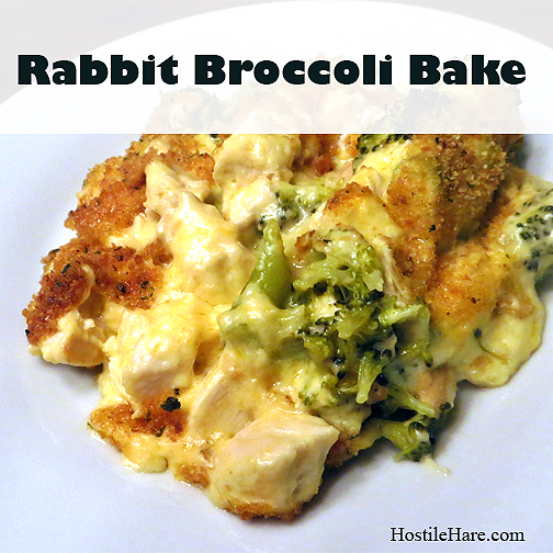 Rabbit Broccoli Bake