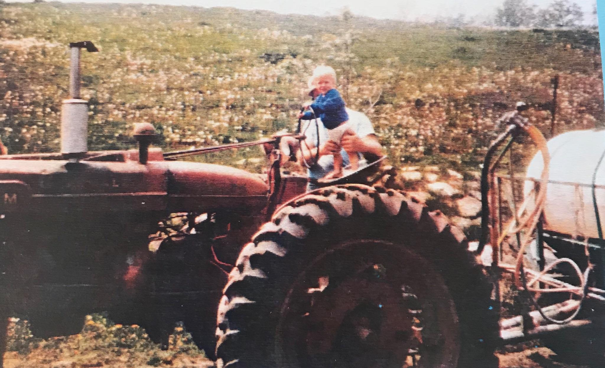 Nick on the tractor