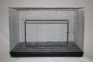 This Single Rabbit Cage with Pull-Out Pan is perfect for backyard meat rabbits. Whether your intention is to use this rabbit cage as a buck, doe or grow-out cage, it will provide a comfortable, easy to clean bunny dwelling.