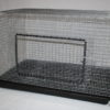 Pull Out Pan Single Rabbit Cage