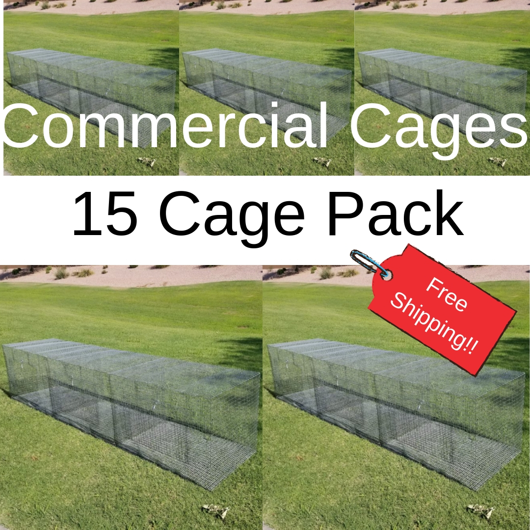 Commercial Cages 15 Cage Pack Free Shipping